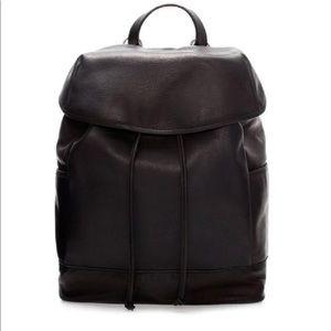 Zara Real Black Leather minimalist backpack
